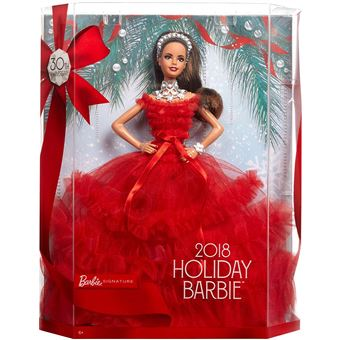 5 sur poup e barbie 30eme anniversaire no l latina brune poup e achat prix fnac - Barbie de noel 2012 ...