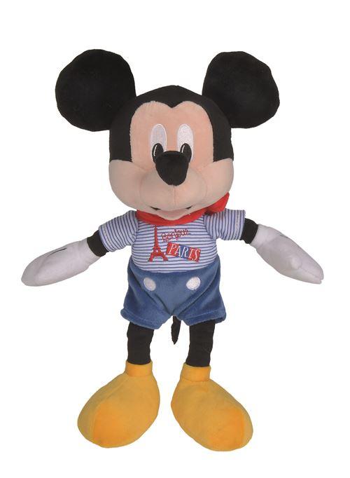 Personnage en peluche Disney Mickey et Minnie Paris 25 cm Modèle aléatoire