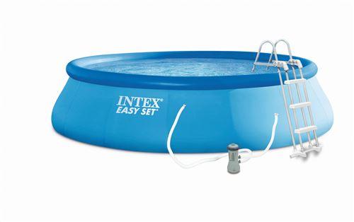 Kit Piscine gonflable Intex - Ronde - Easy Set - 4,57 x 1,07 m - Accessoires inclus - Bleu