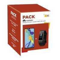 Pack Smartphone Huawei P30 Noir 128 Go + Huawei Band 3 Pro Noir