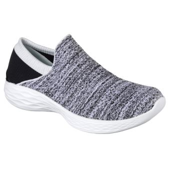 6e9350b4ca4 Chaussures Femme Skechers You Blanches et Noires Taille 36 ...