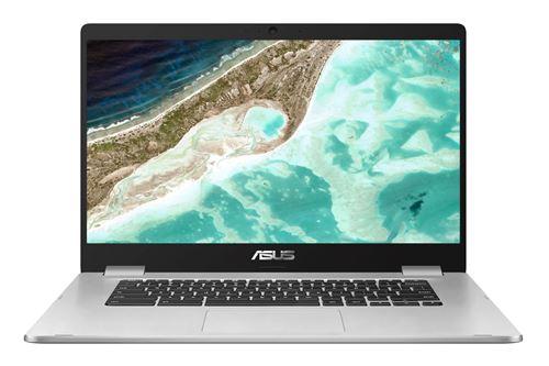 """PC Portable Asus 90NX01R1 M04650 15,6"""" Ecran tactile Intel Celeron 8 Go RAM 128 Go eMMC Argent"""