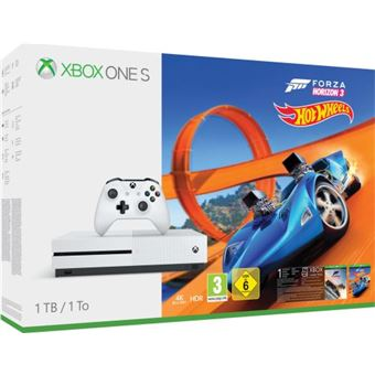 Pack Console Microsoft Xbox One S 1 To + Forza Horizon 3 + Hot Wheels