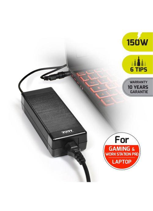 Chargeur universel 150 Watts Noir Port Designs pour PC...