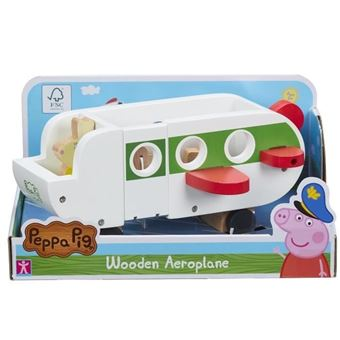 Avion En Bois Peppa Pig Avec 1 Personnage Moyenne Figurine Achat Prix Fnac