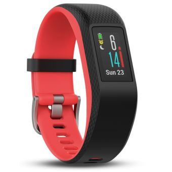 Bracelet de sport Garmin Vivosport Taille S/M Noir et fuchsia avec GPS et cardio poignet