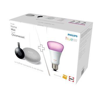 Pack Fnac Google Home Mini + Chromecast + Philips Hue White & Colors