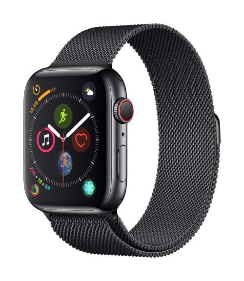 Fnac.com : Apple Watch Series 4 Cellular 44 mm Boîtier en Acier inoxydable Noir sidéral avec Bracelet Milanais Noir sidéral - Montre connectée.