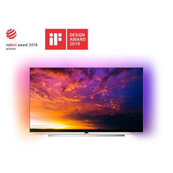 TV Philips 65OLED854 UHD 4K Ambilight 3 côtés Android TV 65'' Argent