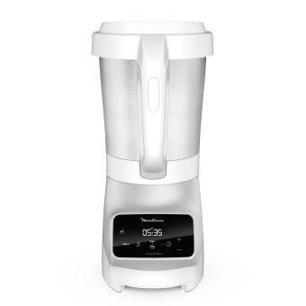 Blender chauffant Moulinex Soup et Plus avec panier vapeur 1100 W Argent et Blanc