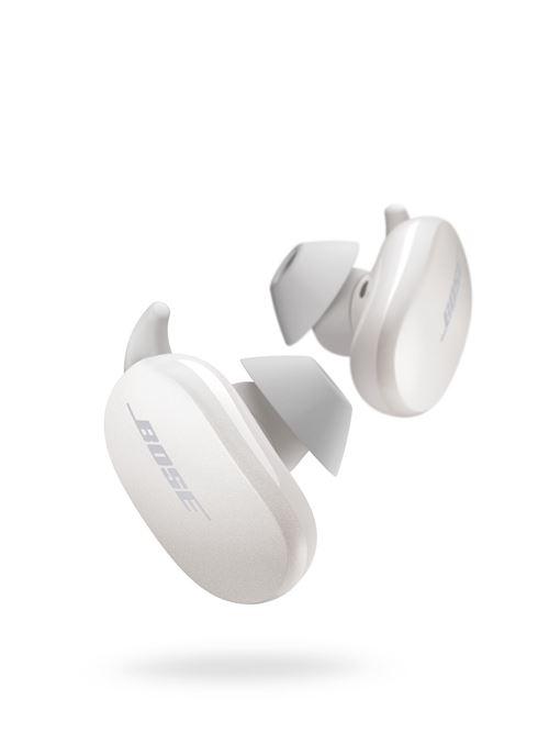 Ecouteurs sans fil bluetooth à réduction de bruit active Bose QuietComfort Earbuds blanc