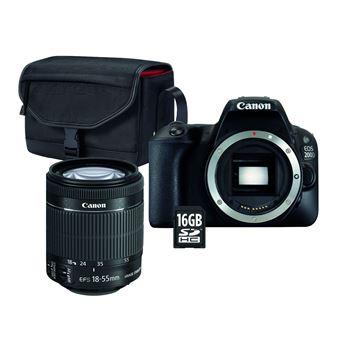 -15% sur Pack Fnac Reflex Canon EOS 200D Noir + Objectif EF-S 18-55 mm  f 4.5-5.6 IS STM + Sac + Carte SD 16 Go - Appareil photo reflex - Achat    prix   fnac d6e6608e5c9b