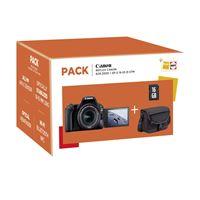 Caméra Reflex Canon EOS 200D Noir + Objectif EF-S 18-55mm f/4.5-5.6 IS STM + Sac + Carte SD 16 Go