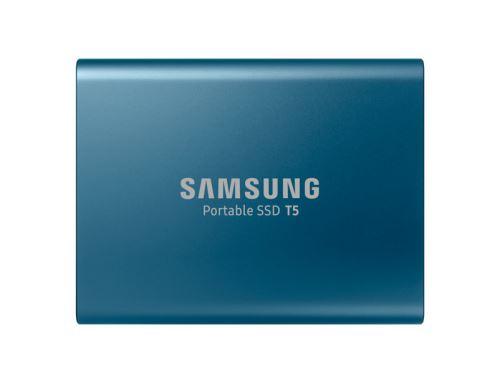 Disque Dur SSD Externe Samsung Portable T5 500 Go Bleu - SSD externe. Remise permanente de 5% pour les adhérents. Commandez vos produits high-tech au meilleur prix en ligne et retirez-les en magasin.