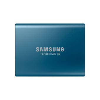 Disque Dur SSD Externe Samsung Portable T5 500 Go Bleu