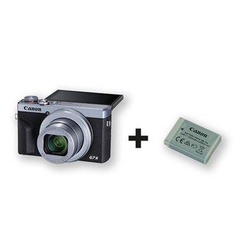 Pack Compact Canon PowerShot G7X Mark III Argent + 2éme batterie incluse