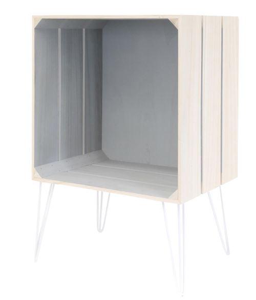Meuble gagette coloris gris - Dim : 30 x 60 x 40 cm - PEGANE -