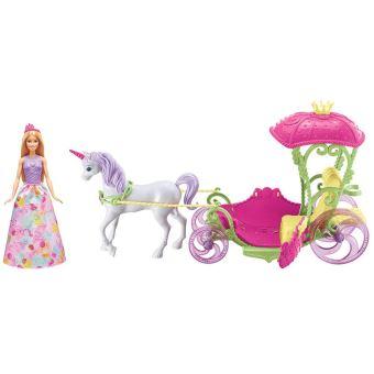 Playset barbie dreamtopia princesse et sa cal che poup e - Barbie caleche ...
