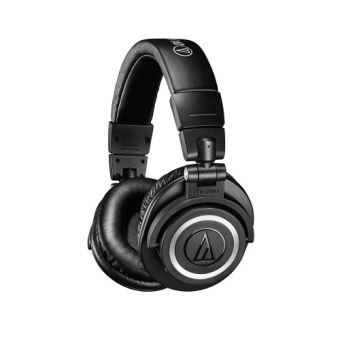 Audio-Technica ATH M50XBT - Koptelefoon met micro - over oor - Bluetooth - draadloos - 3,5 mm-stekker