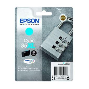 Epson 35XL - XL - cyaan - origineel - inktcartridge