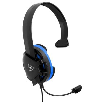 casque gaming turtle beach recon chat noir et bleu pour ps4 accessoire console de jeux achat. Black Bedroom Furniture Sets. Home Design Ideas