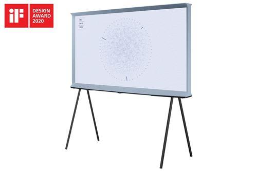 """Plus de détails TV Samsung The Serif QE55LS01TB QLED 4K UHD Smart TV 55"""" Bleu Gris 2020"""