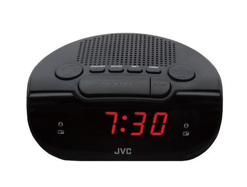 Radio-réveil JVC RA-F120B Noir