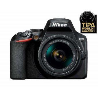 Nikon D3500 + SLR Lens Nikkor AF-P DX 18-55mm f / 3.5-5.6 VR Zwart