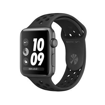 Apple Watch Series 3 Nike+ 42 mm Boîtier en Aluminium Gris sidéral avec Bracelet Sport Anthracite