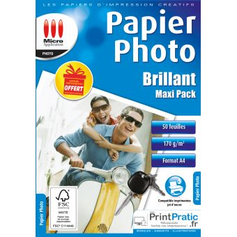 Micro Photo Paper Application eco pack - glanzend fotopapier A4 - 50 vellen