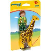 Playmobil PLAYMOBIL 1.2.3 9380 Soigneur avec girafe