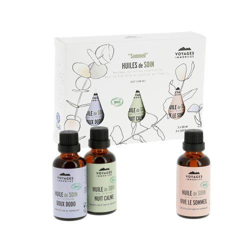 Coffret 3 huiles de massage