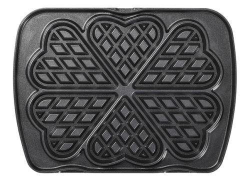 Jeu de plaques Premium Gaufres Lagrange pour 6 gaufres cœur 010522 Noir