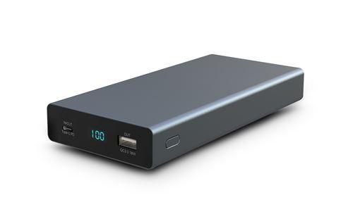 Batterie Externe Urban Factory Argent 26.800mAh 60 watts x2 USB et 1 USB-C