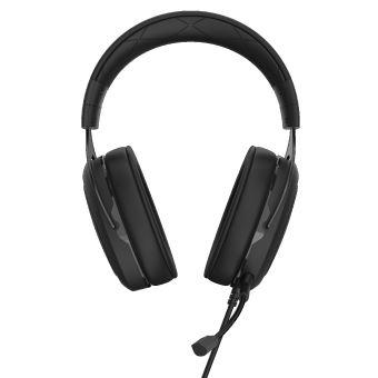 CORSAIR Gaming HS50 PRO STEREO - Koptelefoon - over oor - met bekabeling - 3,5 mm-stekker - koolstof