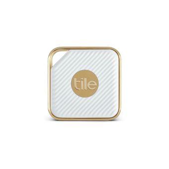 Porte Clé Traceur Connecté Tile Pro Style Champagne Et Blanc Satiné - Porte clé traceur