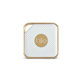 top design outlet on sale classic style Porte Clé Traceur Connecté Tile Pro Style Champagne et blanc satiné