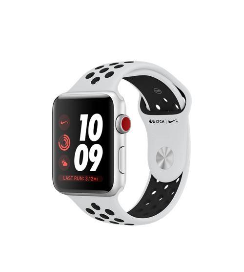 Apple Watch Nike+ Cellular 42 mm Boîtier en Aluminium Argent avec Bracelet Sport Platine pur Noir - Montre connectée. Remise permanente de 5% pour les adhérents. Commandez vos produits high-tech au meilleur prix en ligne et retirez-les en magasin.