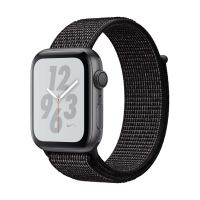 Apple Watch Series 4 Nike+ 44 mm Boîtier en Aluminium Gris sidéral avec Boucle Sport Nike Noir