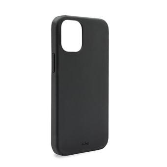 Coque semi-rigide Icon Puro pour iPhone 12 Mini Noir