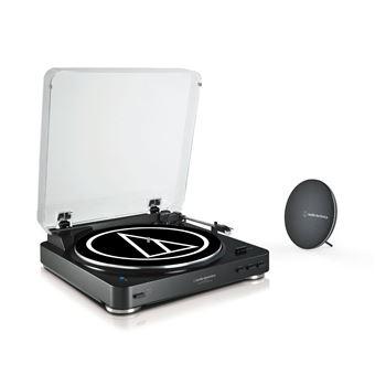 Pack Platine vinyle Bluetooth Audio-Technica AT-LP60SPBT-BK + Enceinte Bluetooth