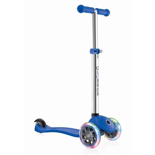 Trottinette 3 roues Globber Primo Lights Bleu