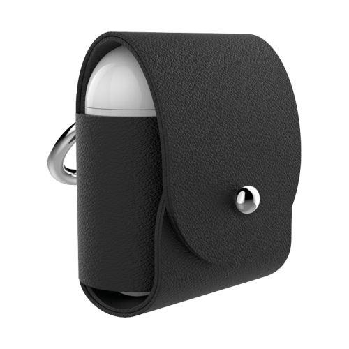 Etui en cuir éco-responsable Atelier Gaston pour Airpods Noir