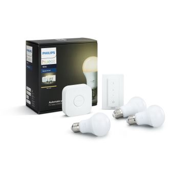 kit de d marrage philips hue blanc x3 e27 pont variateur achat prix fnac. Black Bedroom Furniture Sets. Home Design Ideas