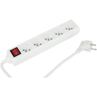Multiprise Temium Blanc 1.5 m + Interrupteur