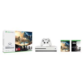 Pack Console Microsoft Xbox One S 1 To + Assassin's Creed Origins + Rainbow Six : Siege