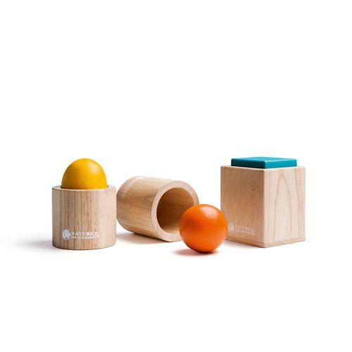 Jeu en bois Ensemble de 3 matériels d'emboîtement Montessori
