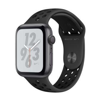 Apple Watch Series 4 Nike 44mm Boîtier en Aluminium Gris Sidéral avec Bracelet Sport Anthracite Noir