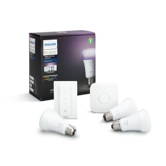 PHILIPS HUE STARTER PACK WHITE+COLOUR E27