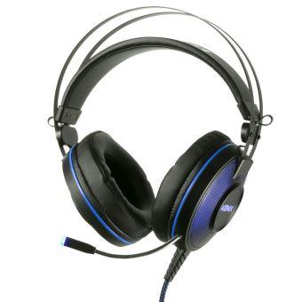 Micro Casque Filaire Gaming Konix Mythics Ps U700 Noir Et Bleu Pour